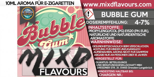 Bubble Gum - MIXD Flavours Aroma 10ml