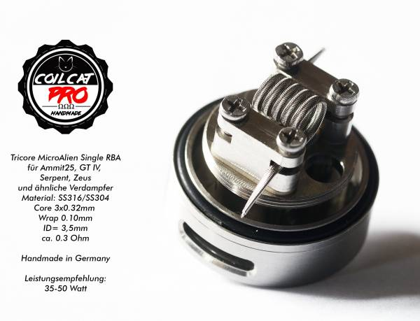 Coil Cat Pro Ammit 25 RTA MicroAlien Single (1 Stück) Handmade in Germany