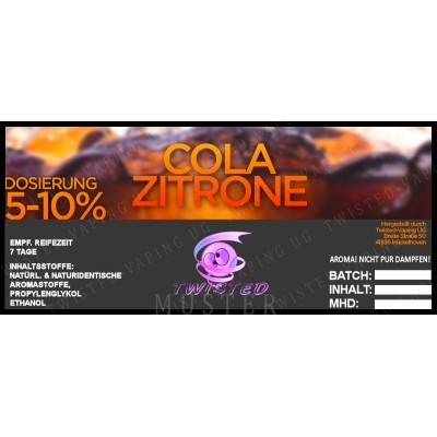 Twisted Flavors-Aroma (10 ml) Cola-Zitrone