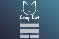 """""""CopyCat"""" - Etikett für Leerflaschen - 120x80mm"""