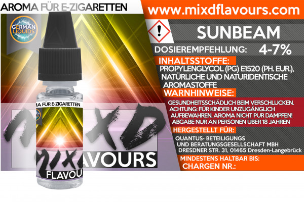Sunbeam - MIXD Flavours Aroma 10ml