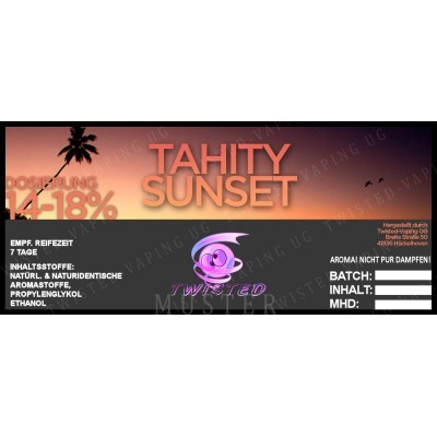 Twisted Flavors-Aroma (10 ml) Tahity Sunset