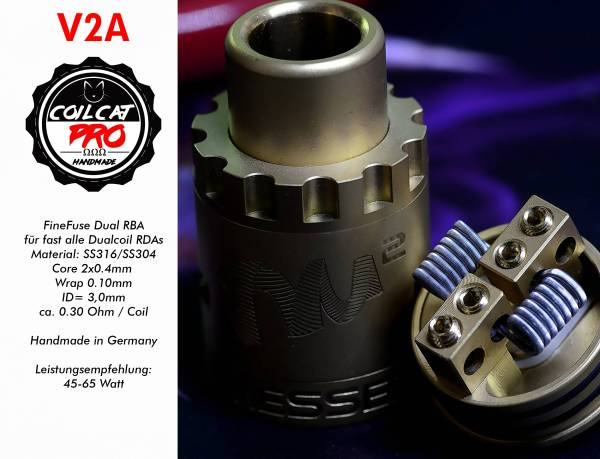 Coil Cat Pro Fine Fused Dualset (2 Stück) Handmade in Germany